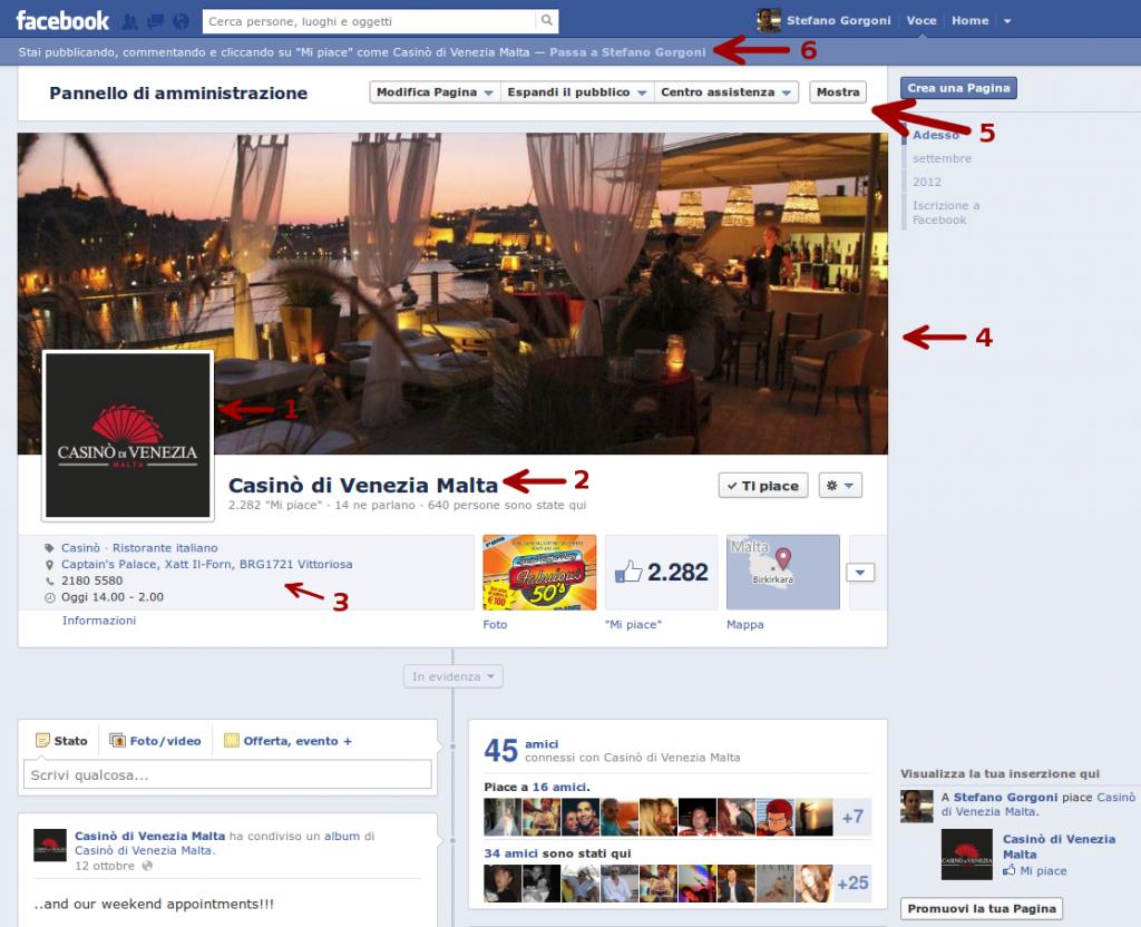 Anatomia di una pagina Facebook - 1
