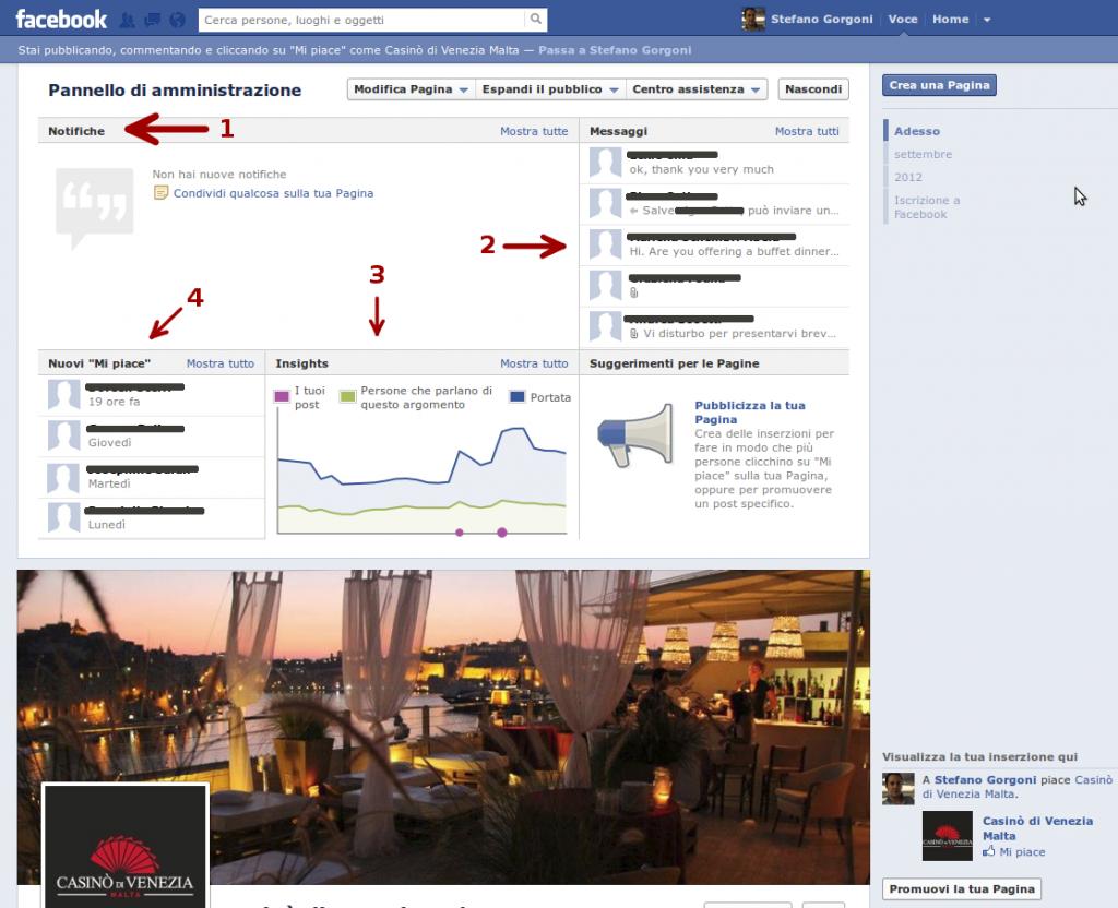 Anatomia di una pagina Facebook - 2