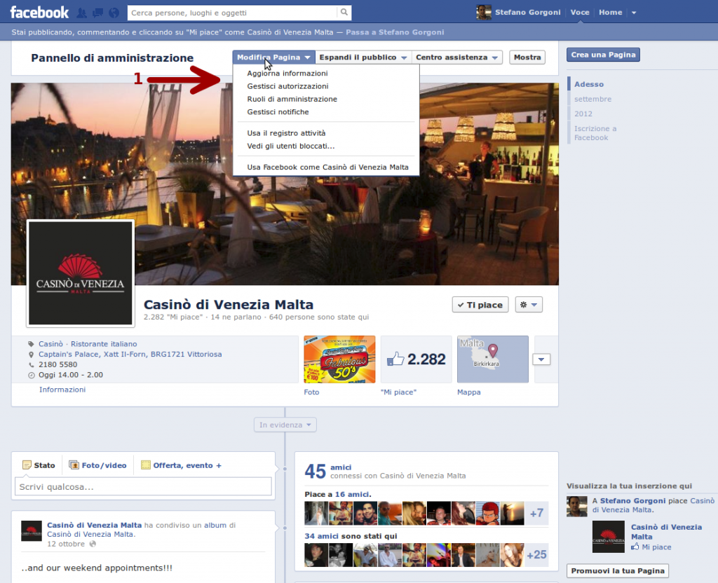 Anatomia di una pagina Facebook - 3